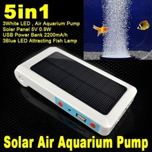 1200mAh Waterproof Solar Energy Power Panel Oxygenator Automatic Aerator Air Pump Oxygen Oxygenation Generator adds water oxygen