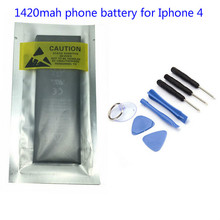 1420mAh 3.7V Li-ion Internal Battery Replacement for iPhone 4 4G With Repair Tools(1 pc)(China)