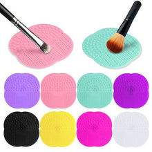 1 PC 5 Colors Silicone Cleaning Cosmetic Make Up Washing Brush Gel Cleaner Scrubber Tool Foundation Makeup Cleaning Mat Pad Tool