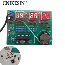 CNIKESIN diy 9V-12V AT89C2051  6 Digital LED Electronic Clock Parts Components diy electronic kits