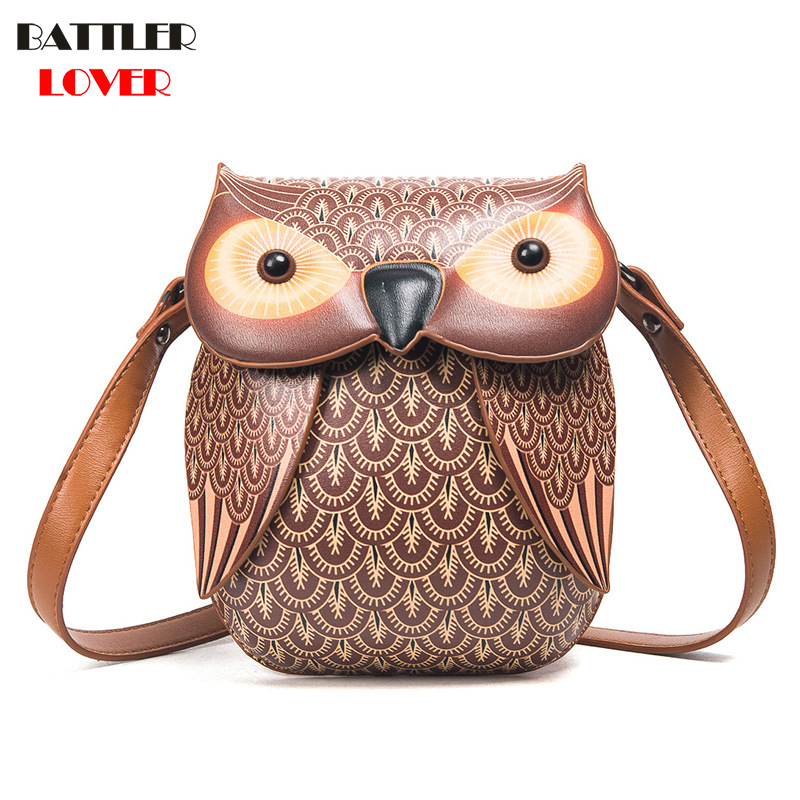2017 New Cute Owl Shoulder Bag Purse Handbag Women Messenger Bags For Summer Girls Cartoon with Crossbody Phone Bag Owl Bags