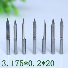 10PCS CNC cutter tools, PCB tungsten steel V-type computer engraving tools, CNC milling cutter 20 degrees 0.2mm machine parts(China)