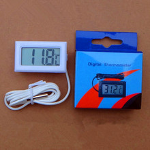 1 PCS Quality LCD Digital Temperature Meter Controller for Freezer Indoor Outdoor Thermometer with 1 Meter Cable With Retail Box(China)
