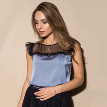 Buy Casual Ruffles Sleeve Women Shirts Blouses Lace Patchwork Sleeveless O neck Solid Vintage Shirt 2018 Summer Chic Ladies Tops for $5.99 in AliExpress store