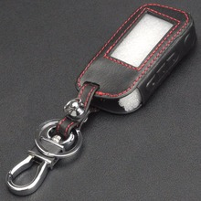 jingyuqin 3 BTNS Remote Leather Key Cover Case A93 Keychaine Case For Starline A93 A63 Two Way Car Alarm(China)