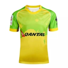 Australia Men RUGBY JERSEY 16-17,High quality polyester breathable Quick dry RUGBY Shirt,Australia sport Rugby T shirts S-2XL