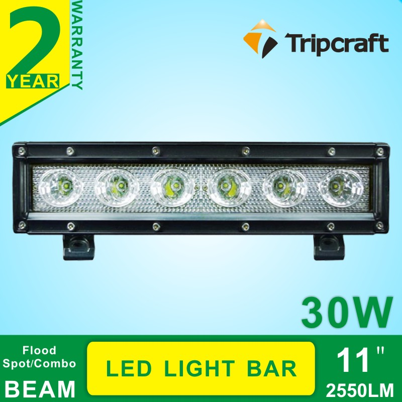 2PCS 11INCH 30W led light bar offroad Boat Car Truck 4x4 SUV ATV Off Road Fog Lamp flood+spot  LED Driving bar<br><br>Aliexpress