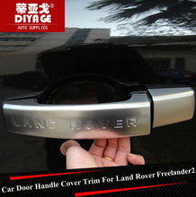 Chrome Car Side Door Handle Cover Trim Car Door Handle Protector Strip Sticker For Land Rover Freelander 2 2011-2016 Car Styling