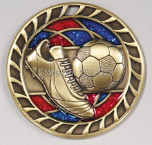 factory price Glitter Soccer Medals cheap custom sport medals low price custom made football medals coins
