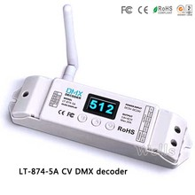 LT-870 2.4G DMX wireless transceiver LT-874-5A DMX Decoder Receiver for led lights moving head lights Free shipping