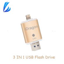 Buy LL TRADER 64GB Pendrive iPhone iPad iOS Android Mini USB Flash Drive Storage Flash Drive OTG 32GB USB Key Stick Memory Disk for $18.47 in AliExpress store