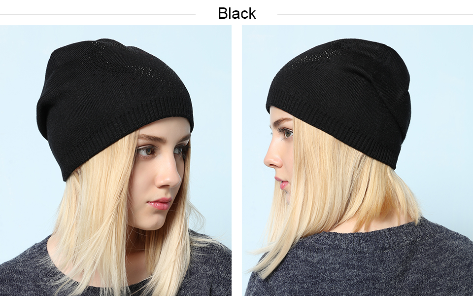 Ralferty 2018 Winter Women's Hats Wool Knitted Beanies Casual Double Layer Thick Warm Hats For Women Ski Cap bonnet femme gorros 8