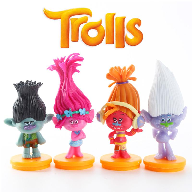 4PCS 7cm Troll PVC Action Figure Collectible Model Toys Home For Kids Children<br><br>Aliexpress