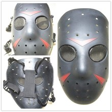 Tactical  Thick Black Voorhees Jason vs Freddy Halloween Mask Hockey Festival Party Halloween Masquerade Metal Stee Mask