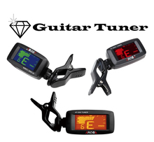 Aroma AT-200D Portable Guitar Tuner Three Color Screen Digital Tuner Clip Design for Guitar Bass Ukulele Violin