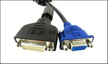 Free Shipping High Quality Computer Cable DMS 59 pin to one DVI(Female)+one VGA (Female) Y-Splitter Cable Video adapter