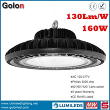 Shenzhen supplier fatory low price 130Lmw/w Meanwell Lumileds LEDs IP65 waterproof 150W 160W high bay LED industrial light