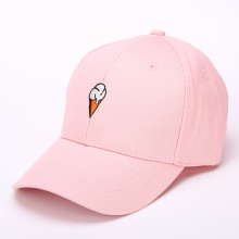 2017 new cute hat embroidery pattern of female leisure ice cream lovers Baseball Cap Hat peaked cap(China)
