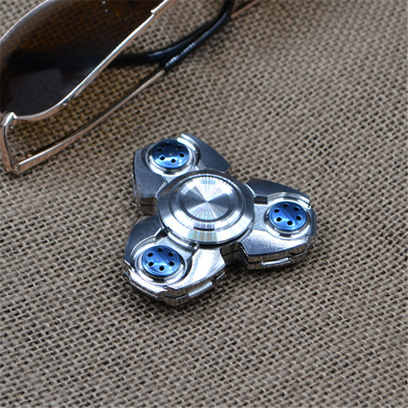 Creative Ceramic Tri-Spinner Fidget Toy EDC Hand Spinner for Autism and ADHD Stress Relieve Toy<br>