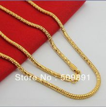 NE1527 Men Accessories Fashion 3.5mm Snake Chain Necklaces Jewelry 24k Gold Vacuum Plating Lead Free High Quality Charm Present