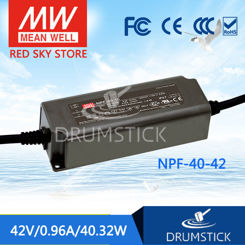 MEAN WELL NPF-40-42 42V 0.96A meanwell NPF-40 42V 40.32W Single Output LED Switching Power Supply<br>