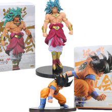 New 12cm / 18cm Dragon Ball Z son goku Broli Broly scultures big PVC Action Figure toys(China)