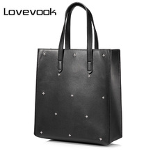 LOVEVOOK brand women shoulder bag female handbag large capacity casual tote bags high quality PU with little pocket inside(China)