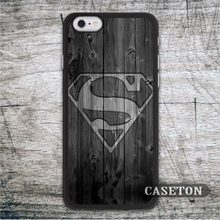 Superman On Wood Classic Case For iPhone 7 6 6s Plus 5 5s SE 5c 4 4s and For iPod 5 High Quality Ultra Phone Cover