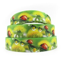 "1"" 25mm David accessories ladybug high quality printed polyester ribbon 10yds,DIY handmade materials,wedding gift,10Y55183(China)"