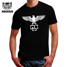 2017 summer Latest Rammstein Eagle Logo Heavy Metal T-shirt Homme Short Sleeve  Cotton Men Tees  Brand-clothing fashion tops
