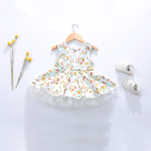 Sun Moon Kids Flower Girl Dresses For Weddings Casual Dresses For Children Cute Girl Party Dress Summer Children's Costume