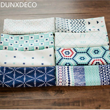 DUNXDECO 2PCS 34x40CM Fresh Green Adorable Geometric Check Linen Cotton Table Placemat Coffee Store Home Napkin Food Photo Prop