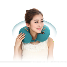 Neck Massager U Shape Electric Pillow Massager Cushion Six-Speed Adjustable Neck Massager Pillow Black Or Dark Blue(China)
