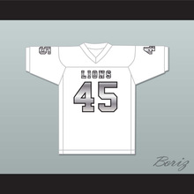 Caleb Grant 45 EMCC Lions White Alternate Football Jersey(China)