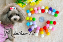 Pet accessory multicolour hairpin dogs ball side-knotted clip bangs clip 50pcs/lot(China)