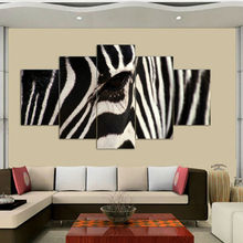 Hot sell free shipping Wall Art Zebra Painting On Canvas Abstract Print Pictures home Decor with framed ready to hung F/983