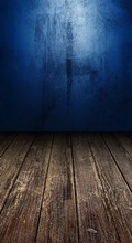 Custom vinyl print cloth blue wall wooden floor photography backdrops for model photo studio portrait backgrounds props F-696