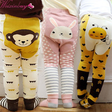 WEIXINBUY Brand Unisex Cartoon Bee Monkey Rabbit Tights Baby Girl Boy Cotton Stocking Children Pantyhose Slim Pants