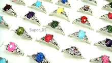 30Pcs Hot! eBay Sale Rhinestone Silver Plated Rings for Women Jewelry Whole  Bulk Packs Lots Free Shipping LR006