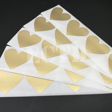 150Pcs Scratch Off Sticker 30x35mm Small Heart Shape Gold Color Blank For Secret Code Cover Home Game Wedding Message Sticker(China)