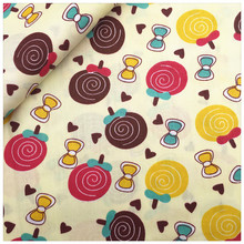 Diy Patchwork Kid Bedding Decoration Tissue Beige Lollipop Cotton Fabric Tecido Quilting Home Textile Sewing Cloth Craft Fabrics