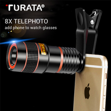 Buy Universal 8X 12X Optical Zoom Mobile Phone Telescope Clip-on HD External Telephoto Lens Replacement Smartphone Camera Lens Kits for $5.59 in AliExpress store
