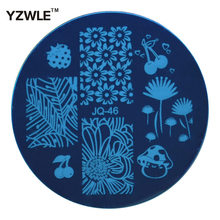YZWLE 1 Pcs Stainless Steel Plate Image Stamp Stamping Plates DIY Manicure Template Nail Polish Tools (JQ-46)