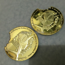 Newest,100pcs/lot Free shipping 24k gold clad 1 oz Shark Dealer Card Poker Chip Token .999 24k gold bullion Coin