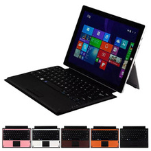 Colorful Plastic Durable Lightweight Magnetic TouchPad Bluetooth Keyboard Type Cover for Microsoft Surface Pro 3(China)