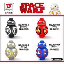 80pcs/lot Star Wars 7 The Force Awakening Black/ Red /Blue /Gray BB-8 DROID FALCON Building block toys children gift(China)
