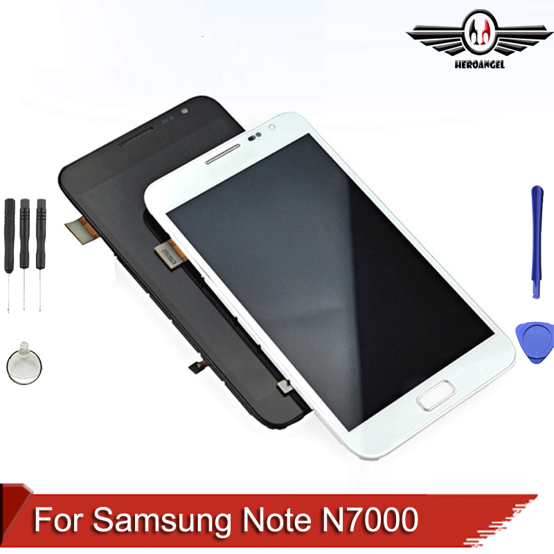 For Samsung Galaxy Note N7000 LCD Display+Touch Screen Assembly with frame +tools .Black Replacements<br><br>Aliexpress