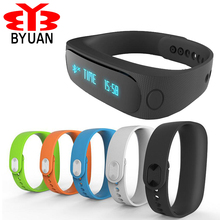 Byuan Smart Bracelet Bluetooth 4.0 Waterproof Sport Watch Anti-lost Pedometer/SMS Reminder Wristband For iPhone for Xiaomi redmi(China)