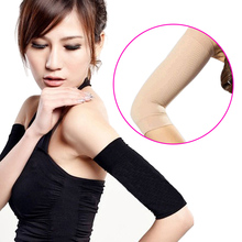 Black/Nude 2 Pcs Weight Loss Calories Off Slim Slimming Arm Shaper Massager Loss Fat Buster(China)