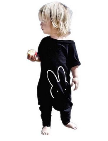 Лето 2017 г. Лидер продаж Детская одежда классные черные детские комбинезоны Детская Одежда для мальчиков и девочек комплект для новорожденн...(China)